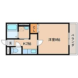 静岡県静岡市清水区梅田町の賃貸アパートの間取り