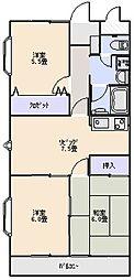 ベールシャトー[210号室]の間取り