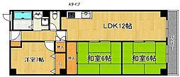 泉佐野メゾンドフルール[5階]の間取り