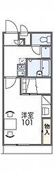 レオパレスフロレスタ[2階]の間取り