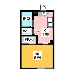 ラズベリーハウス K棟[2階]の間取り