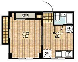 セザール第三武蔵新城[104号室]の間取り
