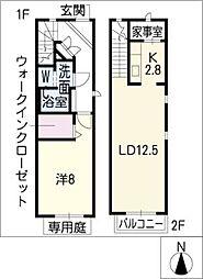 [タウンハウス] 愛知県名古屋市熱田区八番2丁目 の賃貸【/】の間取り