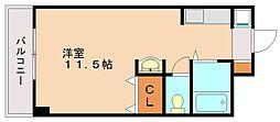 シャトー高宮[1階]の間取り
