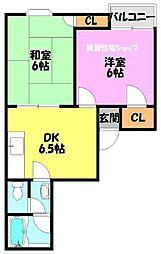 GOLD MANSION2 ゴールドマンション2[7階]の間取り