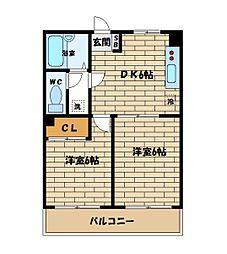 第11西山ビル[203号室]の間取り