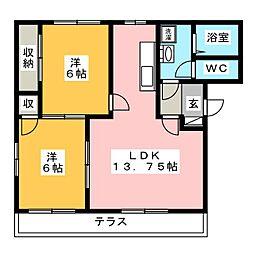 K'sホームB棟[1階]の間取り