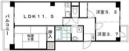 新潟県新潟市中央区女池7丁目の賃貸マンションの間取り