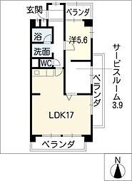 アビニヨンビル[2階]の間取り