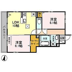 (仮)D‐room桜区南元宿2丁目 II[101号室]の間取り