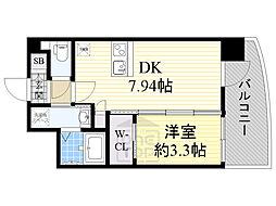 セレニテ江坂ルフレ 5階1DKの間取り