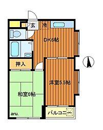 大高マンション[2階]の間取り