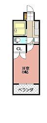 KMマンション八幡駅前III[713号室]の間取り