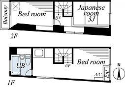[一戸建] 神奈川県横浜市中区石川町3丁目 の賃貸【/】の間取り