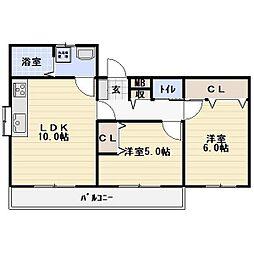 メゾンベルク[2階]の間取り