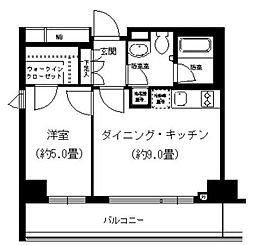 神奈川県横浜市西区戸部本町の賃貸マンションの間取り