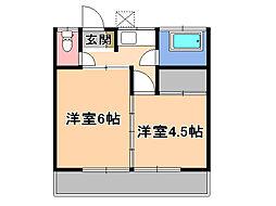 栃木県宇都宮市小幡2丁目の賃貸アパートの間取り