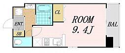 Osaka Metro谷町線 野江内代駅 徒歩5分の賃貸マンション 7階ワンルームの間取り