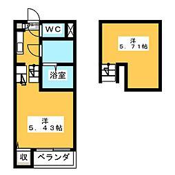 リュミエ萩野町[1階]の間取り
