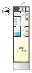 愛知県名古屋市中区富士見町の賃貸マンションの間取り