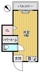 東京都板橋区加賀1丁目の賃貸マンションの間取り
