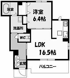 兵庫県西宮市桜谷町の賃貸アパートの間取り