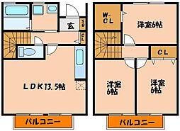 [タウンハウス] 兵庫県神戸市西区長畑町 の賃貸【兵庫県 / 神戸市西区】の間取り