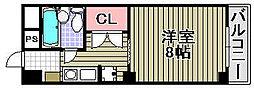 アビヨンKAB1[707号室]の間取り
