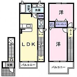 サンシャイン茨木2[2階]の間取り