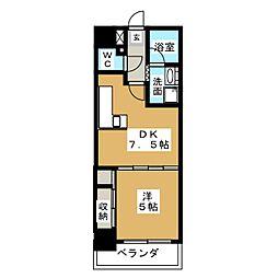 DOMUS21[5階]の間取り