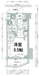 エスプレイス阿波座パークテラス 9階1Kの間取り
