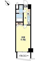 ソレイユ豊-1[5階]の間取り