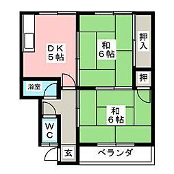 コーポ曙[3階]の間取り