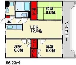キャッスル川久保[5階]の間取り