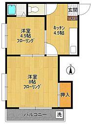第1広田マンション[302号室]の間取り