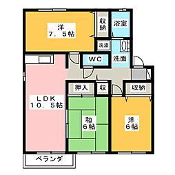ロイヤルガーデンC棟[1階]の間取り