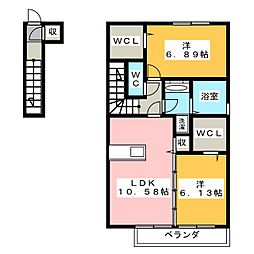 仮)D−room宮竹1丁目[2階]の間取り