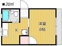 アプール336[1階]の間取り