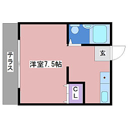 第一赤松コーポ[1階]の間取り