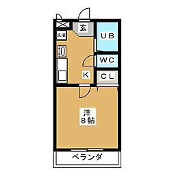 パールマンションIII[1階]の間取り