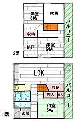 [一戸建] 大阪府茨木市中穂積2丁目 の賃貸【/】の間取り
