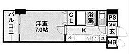 エステムコート博多駅前アヴェール[6階]の間取り
