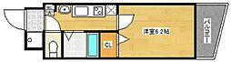 オズレジデンス天下茶屋[6階]の間取り