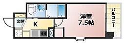 ERCity's兵庫駅[4階]の間取り