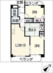 エミナンス社台[2階]の間取り