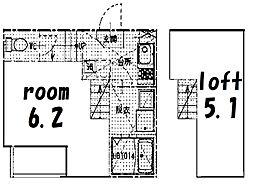 ハーモニーテラス並木[1階]の間取り