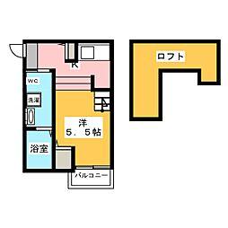 Plumerie箱崎[2階]の間取り