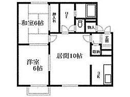 北海道札幌市清田区清田五条1丁目の賃貸アパートの間取り