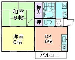 ひまわりハウス[101号室]の間取り