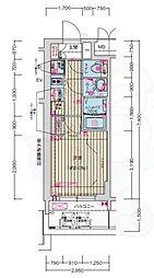 名古屋市営鶴舞線 浅間町駅 徒歩7分の賃貸マンション 11階1Kの間取り